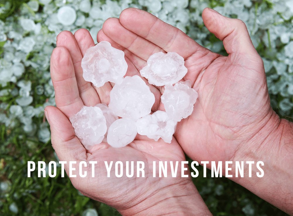 Protect your equipment from hail